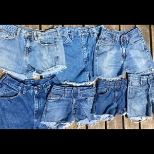 Pants - Vintage Denim Custom Cut Offs